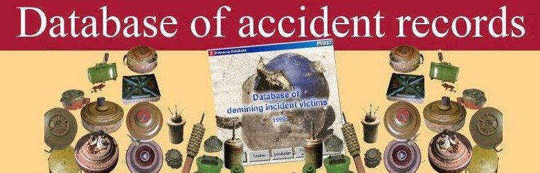 Database of accidents in demining